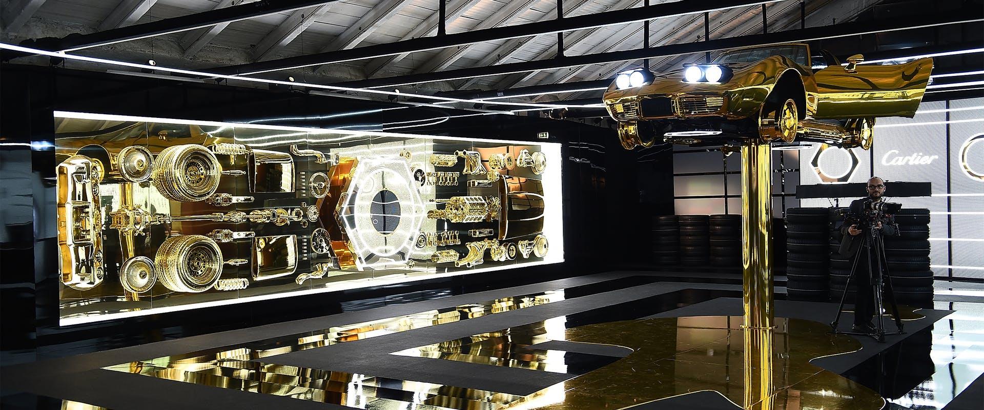 Cartier al salone del mobile white and gold for Salone del mobile webcam