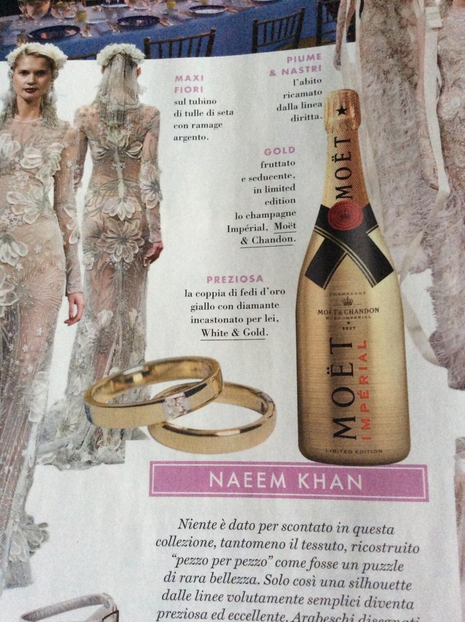 White & Gold Elle Spose, White&Gold ospite della rivista